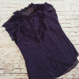 Club Monaco, purple silk shirt, sz small